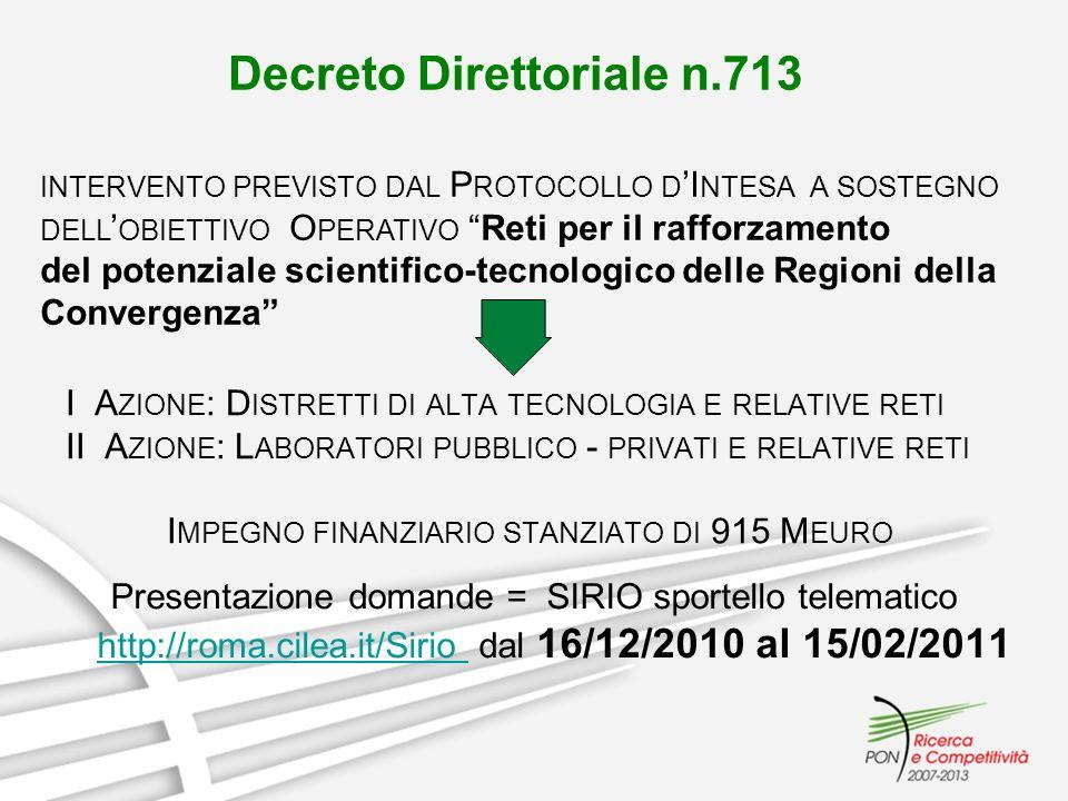 Decreto Direttoriale n.713