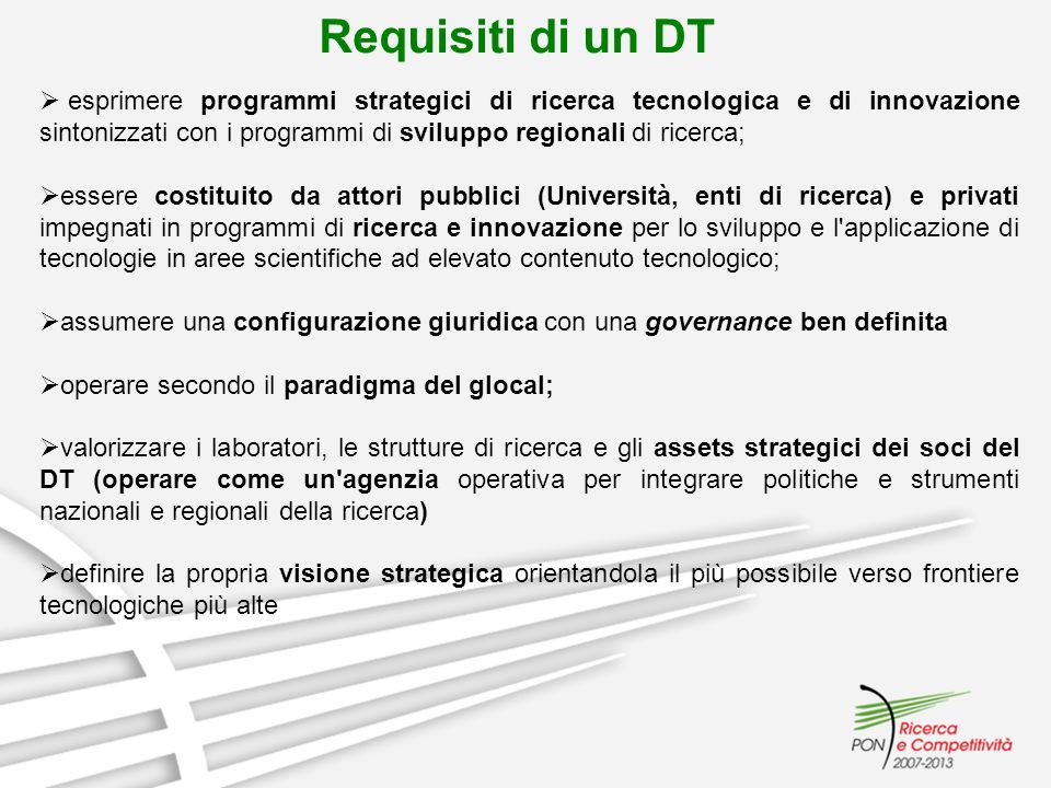 Requisiti di un DT