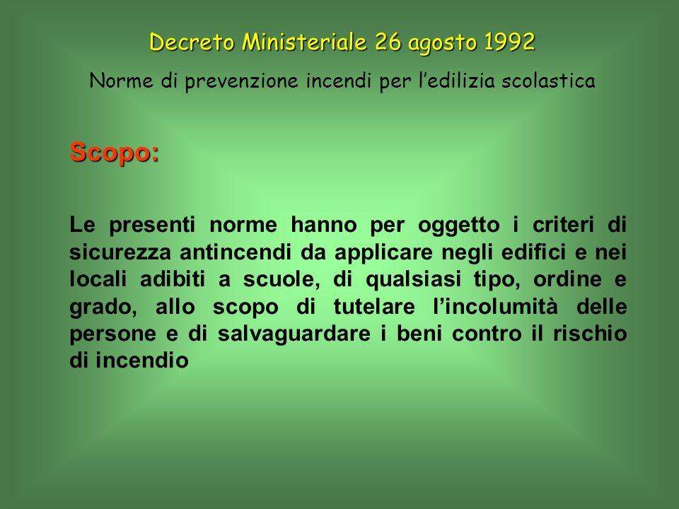 Decreto Ministeriale 26 agosto 1992