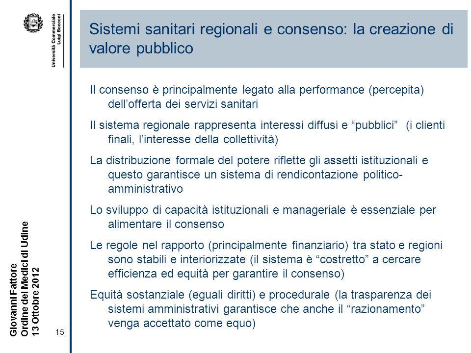 Sistemi sanitari regionali e consenso: la creazione di valore pubblico