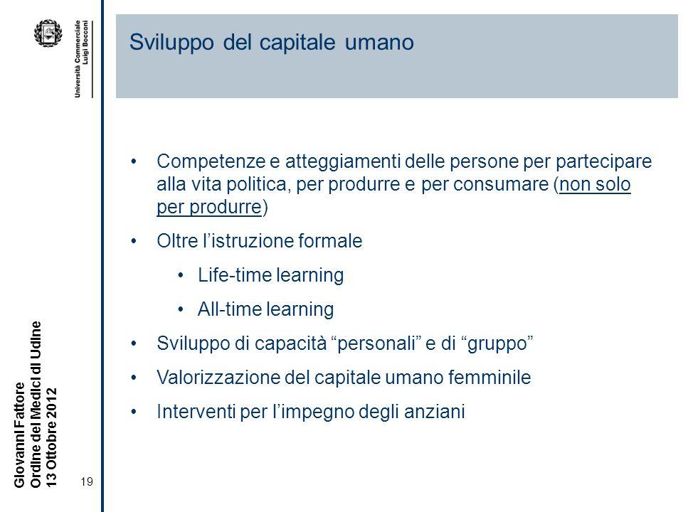 Sviluppo del capitale umano