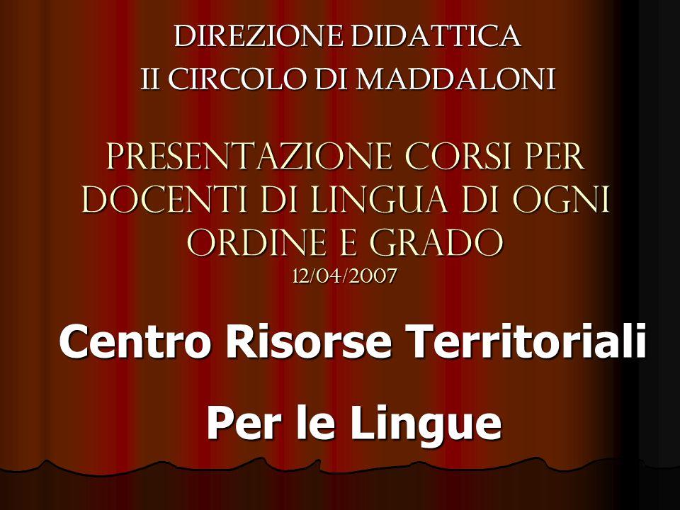 DIREZIONE DIDATTICA II CIRCOLO DI MADDALONI