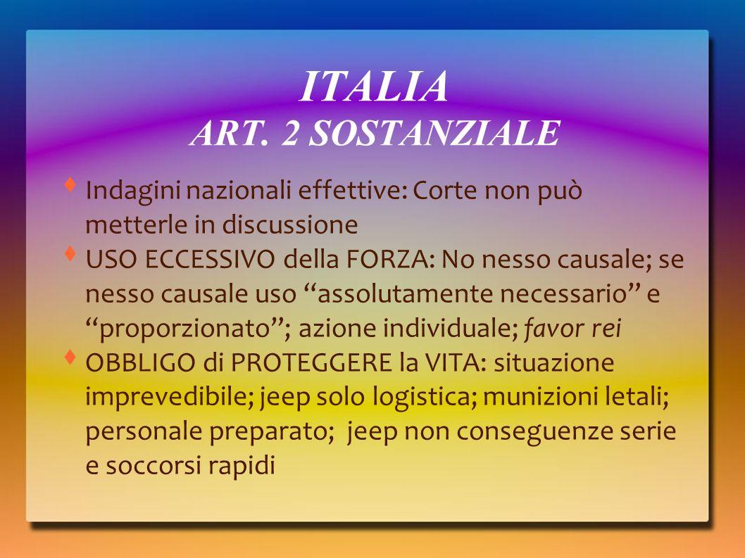 ITALIA ART. 2 SOSTANZIALE