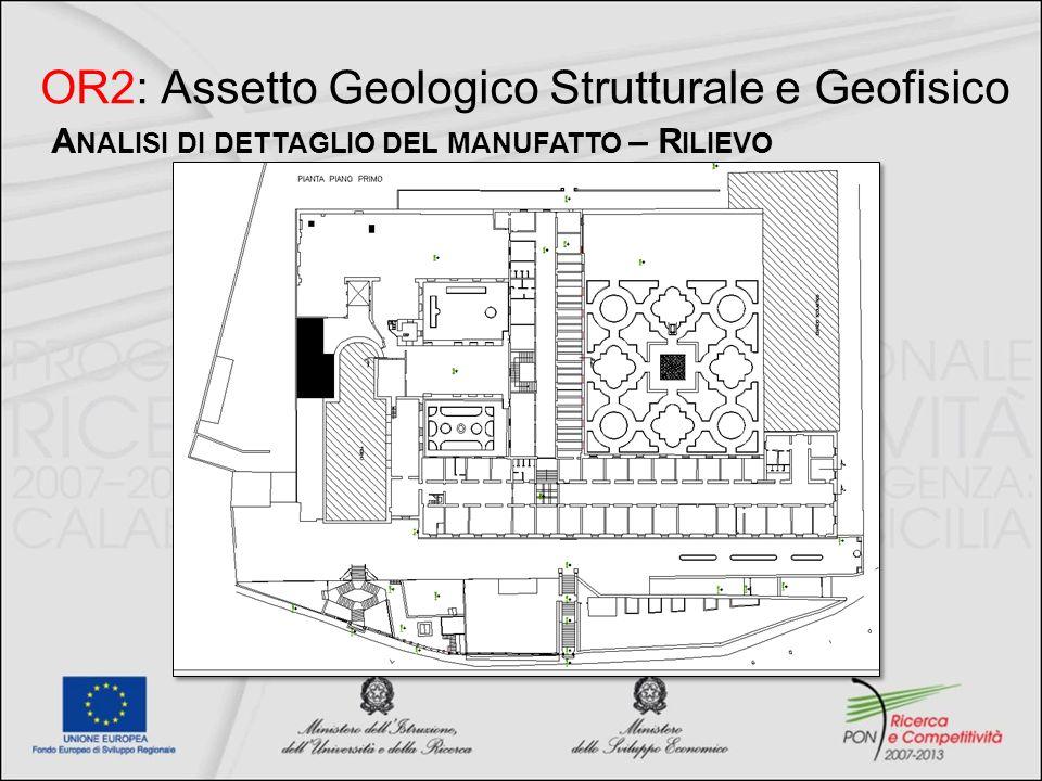 OR2: Assetto Geologico Strutturale e Geofisico