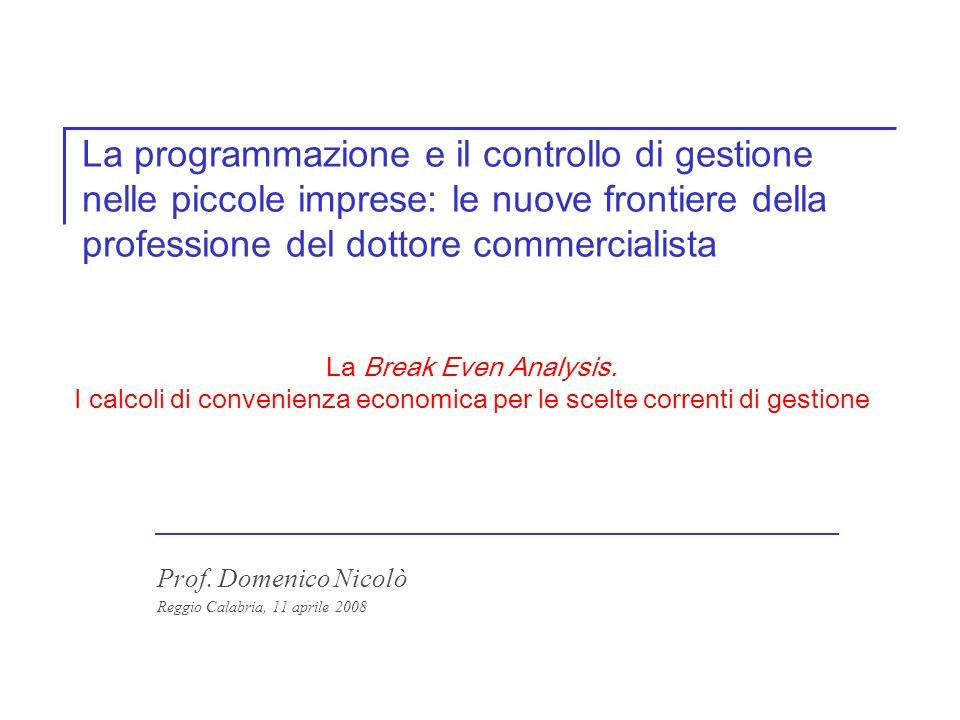 Prof. Domenico Nicolò Reggio Calabria, 11 aprile 2008