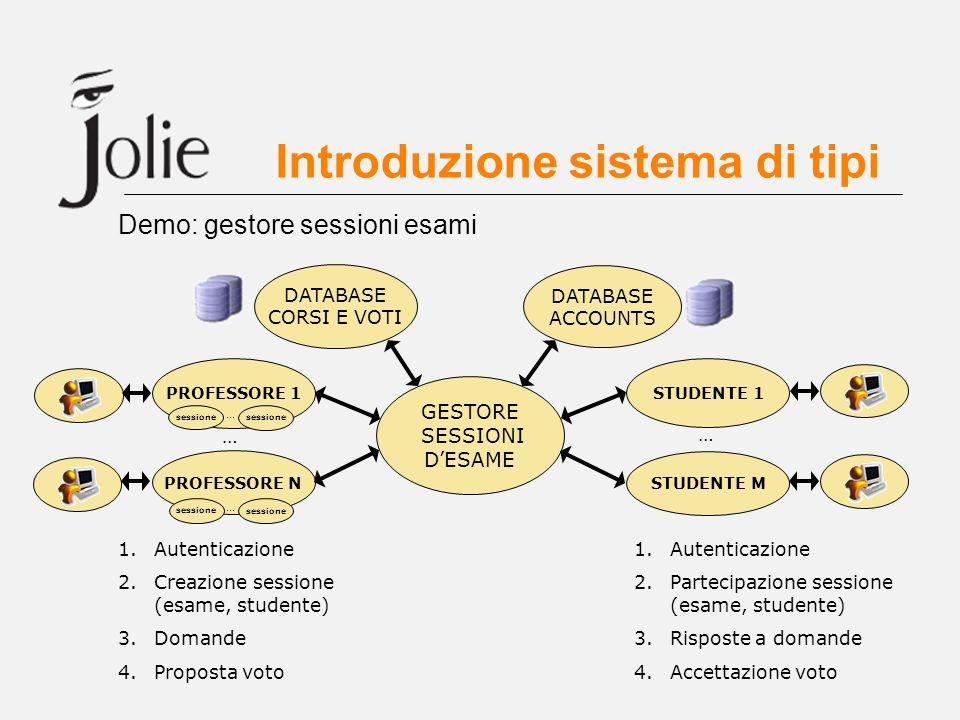 Introduzione sistema di tipi