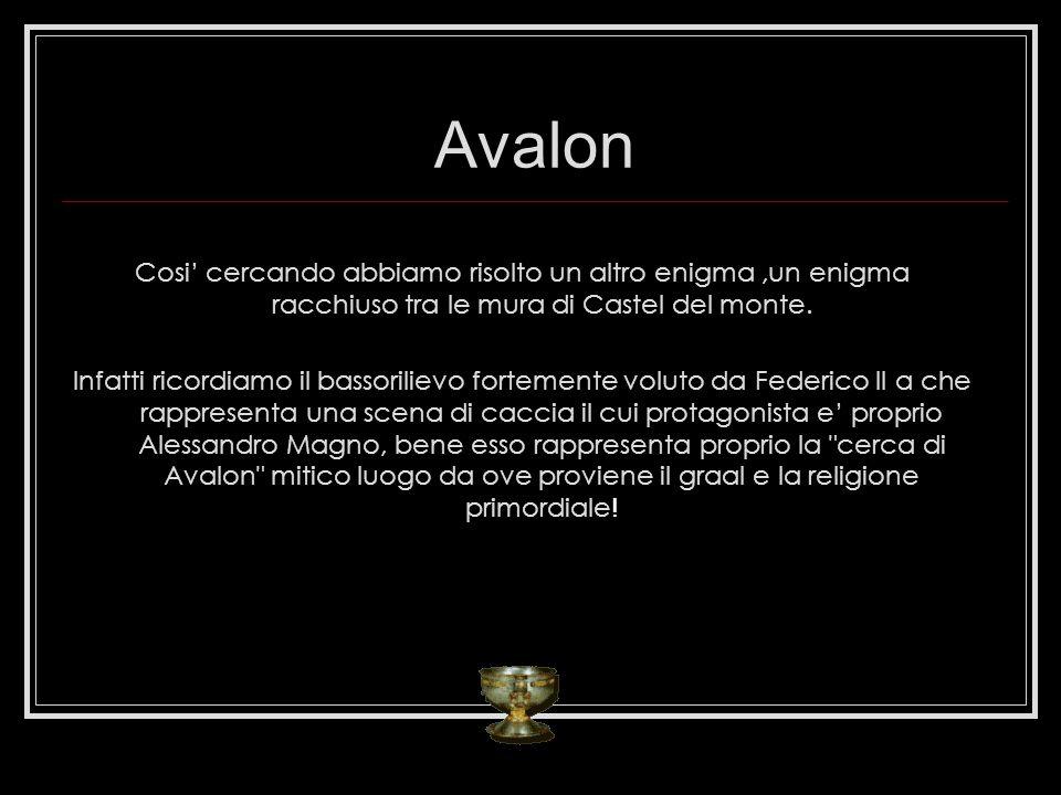 Avalon Cosi' cercando abbiamo risolto un altro enigma ,un enigma racchiuso tra le mura di Castel del monte.