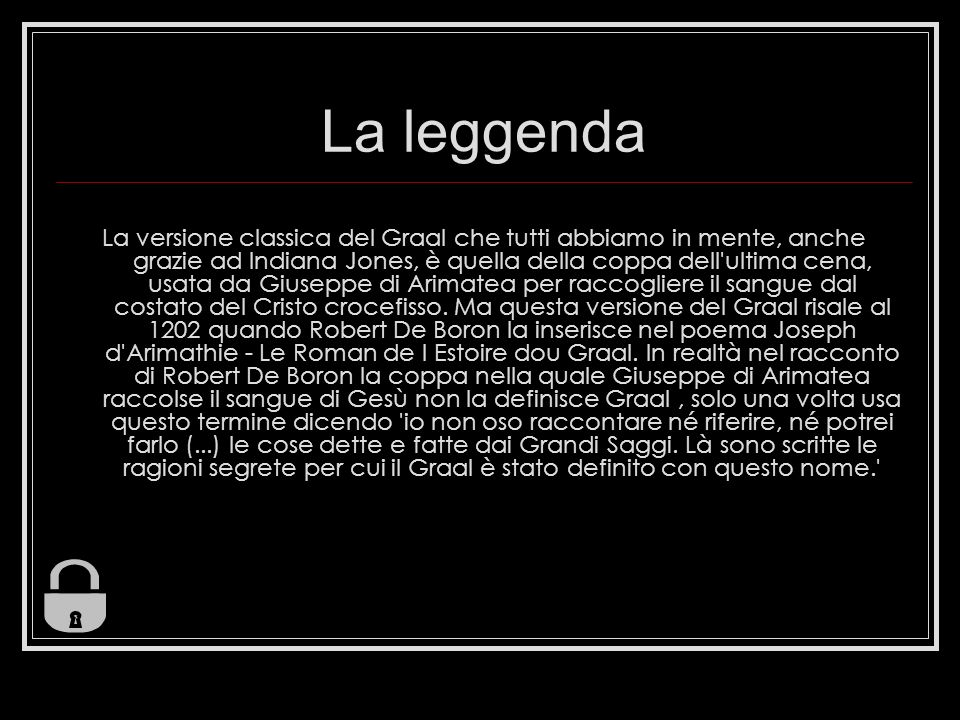 La leggenda