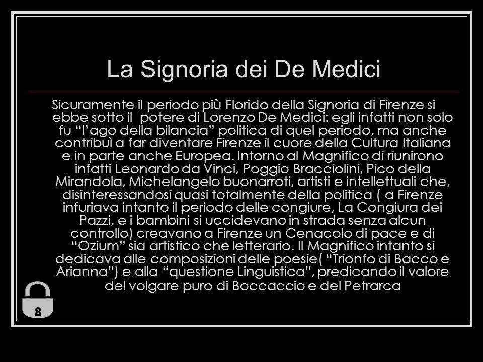 La Signoria dei De Medici
