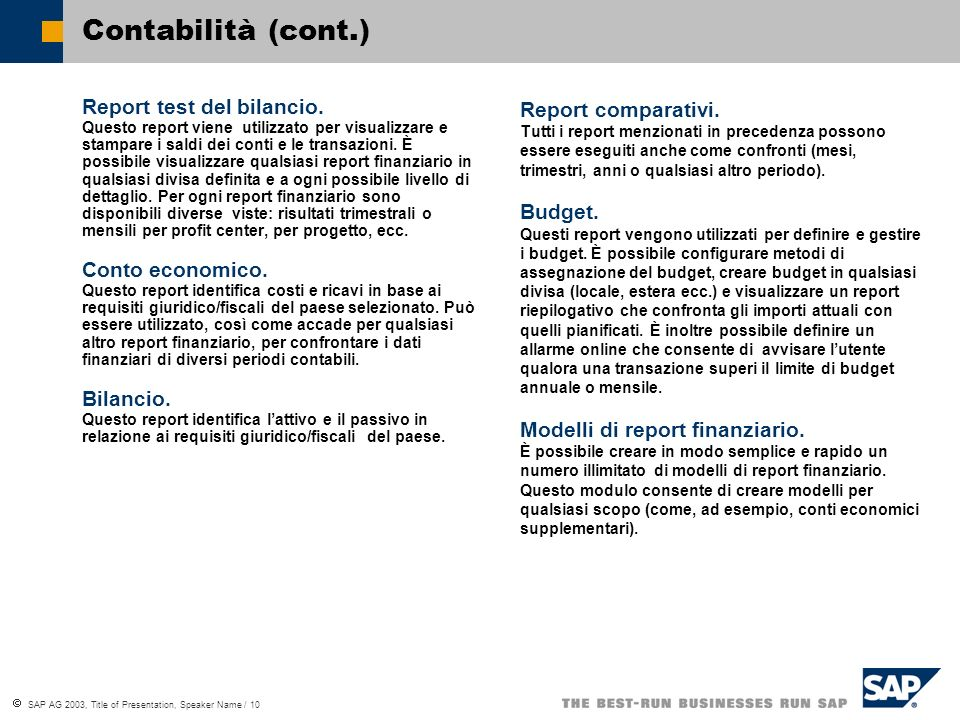 Contabilità (cont.)