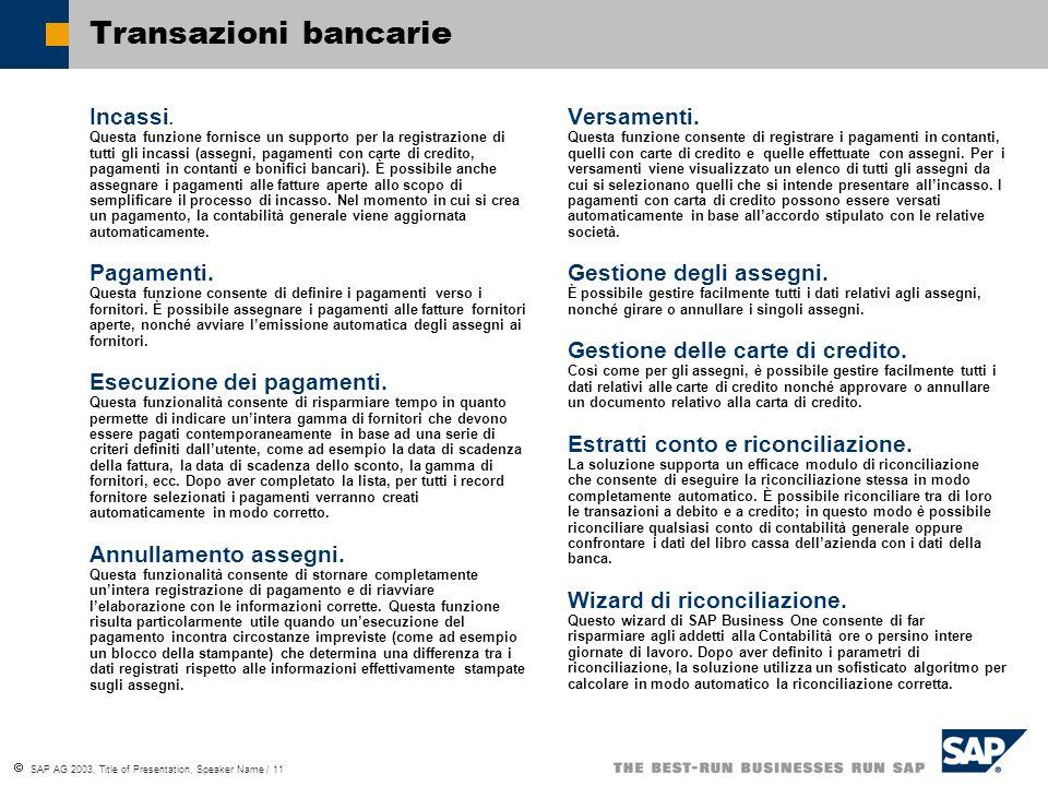 Transazioni bancarie