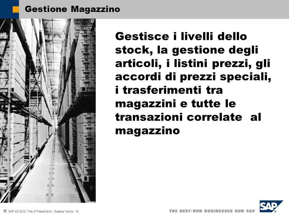 Gestione Magazzino