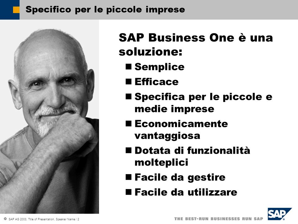 Specifico per le piccole imprese