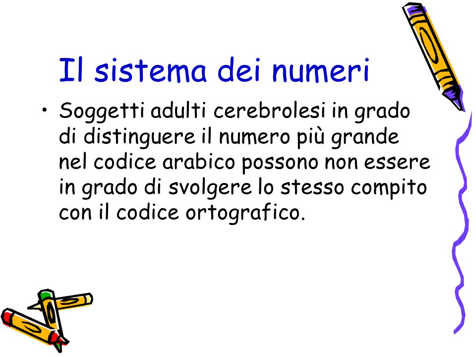 Il sistema dei numeri