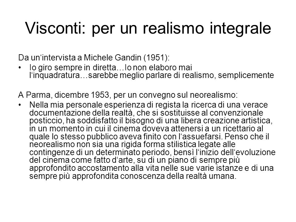 Visconti: per un realismo integrale