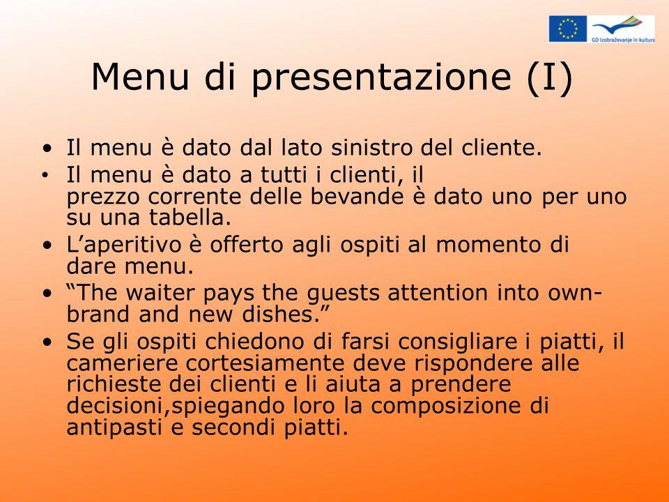 Menu di presentazione (I)