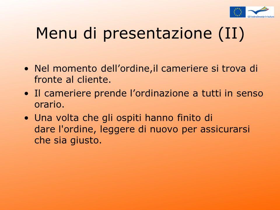 Menu di presentazione (II)