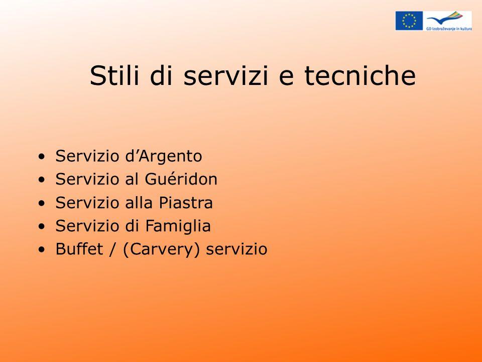 Stili di servizi e tecniche