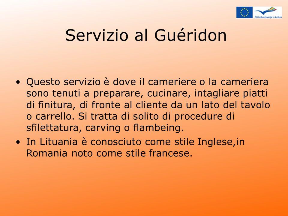 Servizio al Guéridon