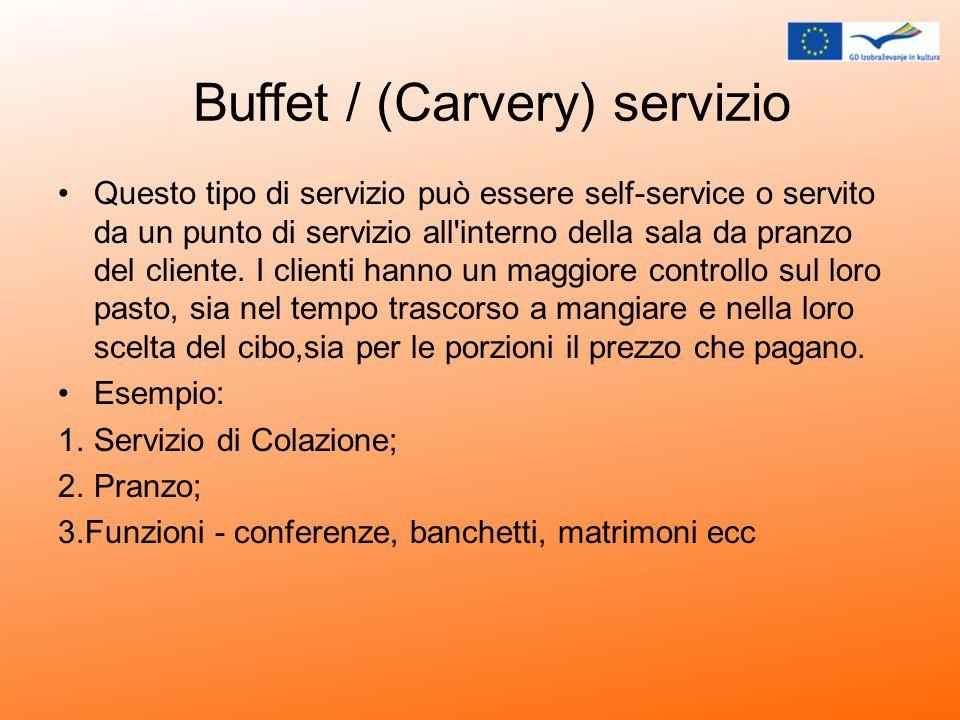 Buffet / (Carvery) servizio
