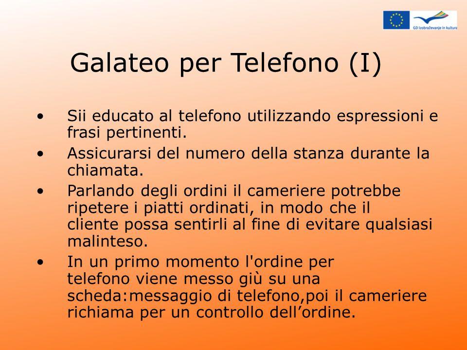Galateo per Telefono (I)