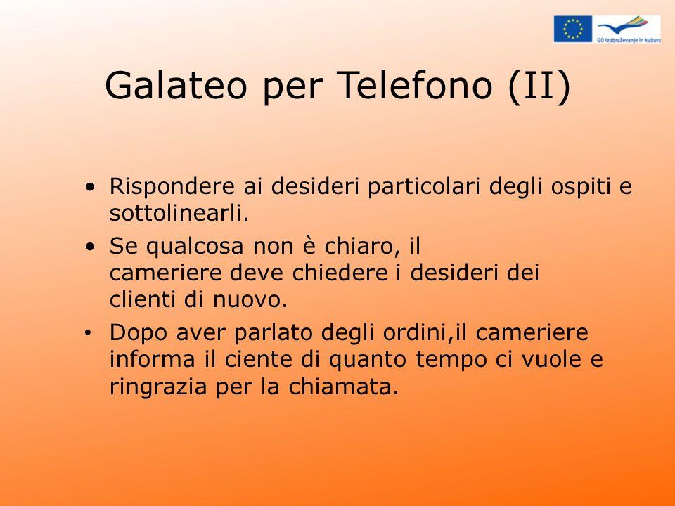 Galateo per Telefono (II)