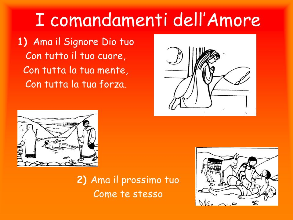 I comandamenti dell'Amore