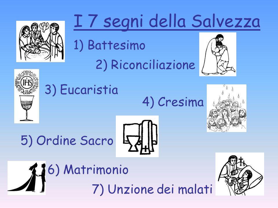 I 7 segni della Salvezza 1) Battesimo 2) Riconciliazione 3) Eucaristia