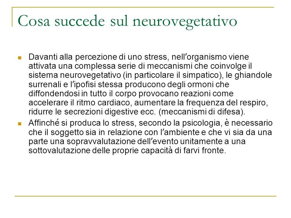 Cosa succede sul neurovegetativo
