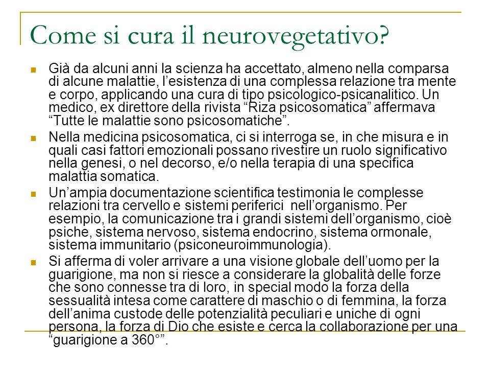 Come si cura il neurovegetativo
