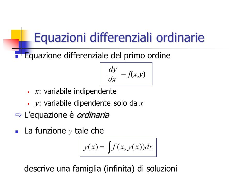 Equazioni differenziali ordinarie