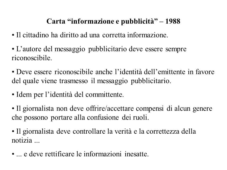 Carta informazione e pubblicità – 1988