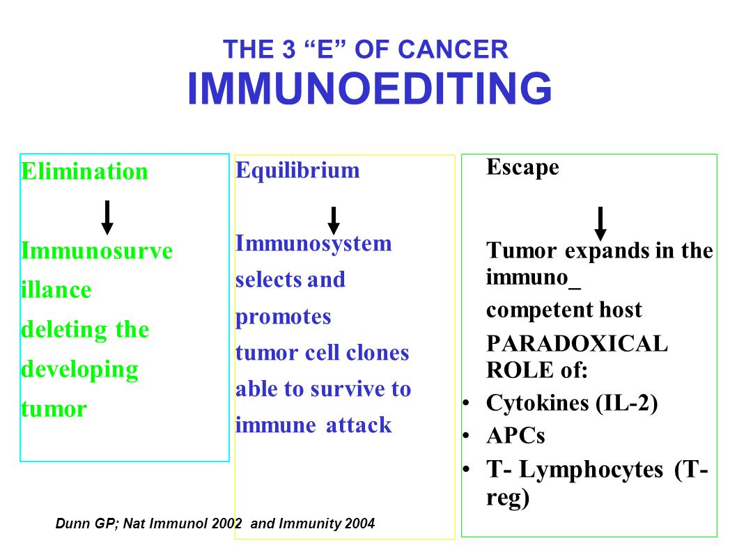 THE 3 E OF CANCER IMMUNOEDITING