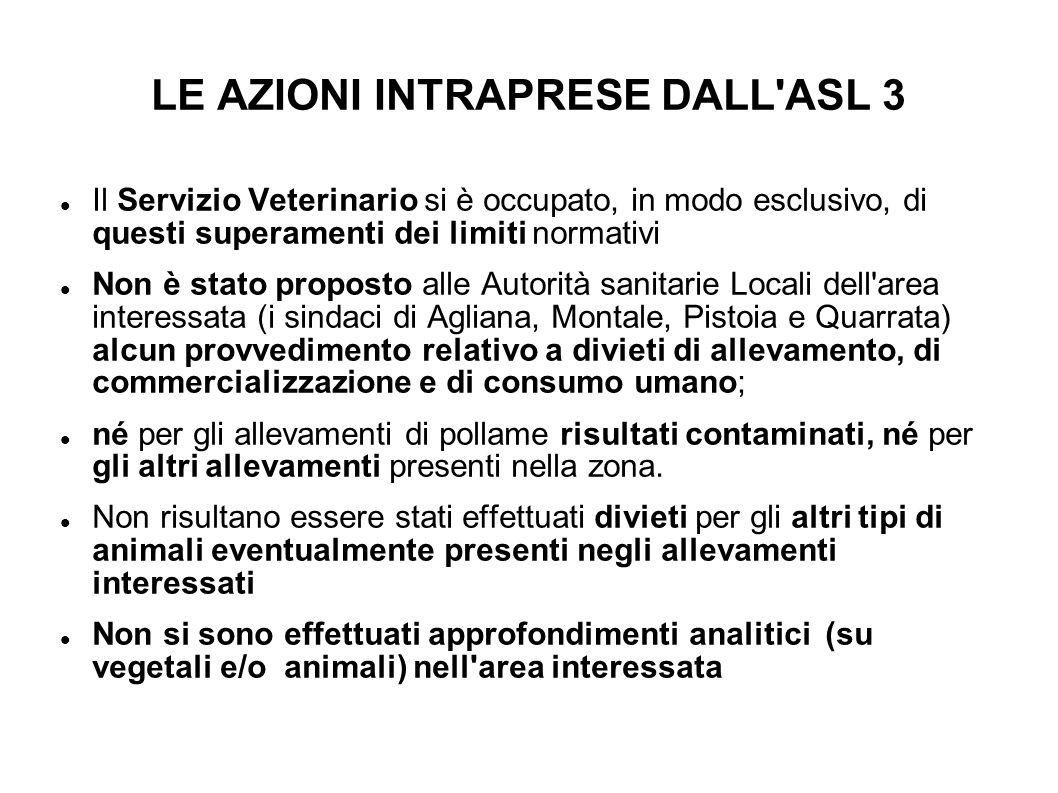 LE AZIONI INTRAPRESE DALL ASL 3