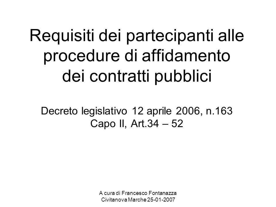 A cura di Francesco Fontanazza Civitanova Marche 25-01-2007