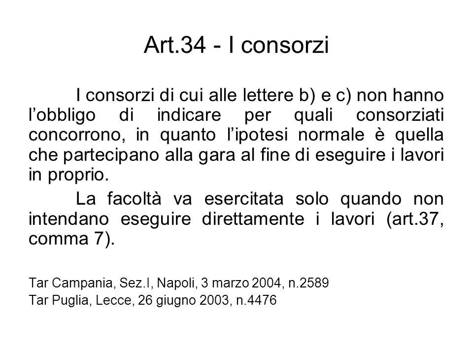 Art.34 - I consorzi