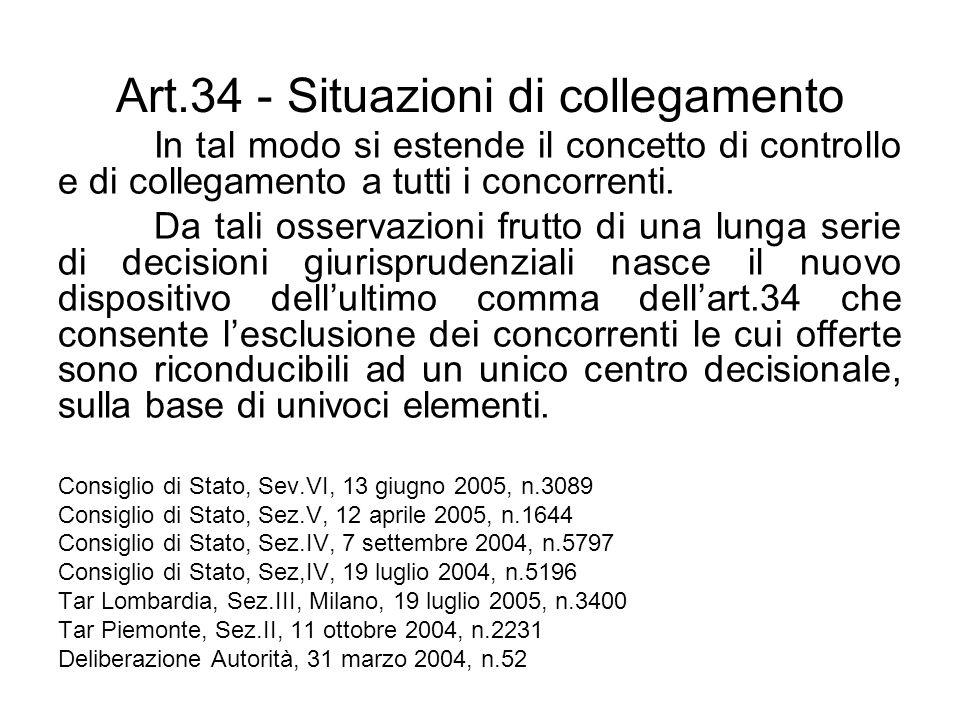 Art.34 - Situazioni di collegamento