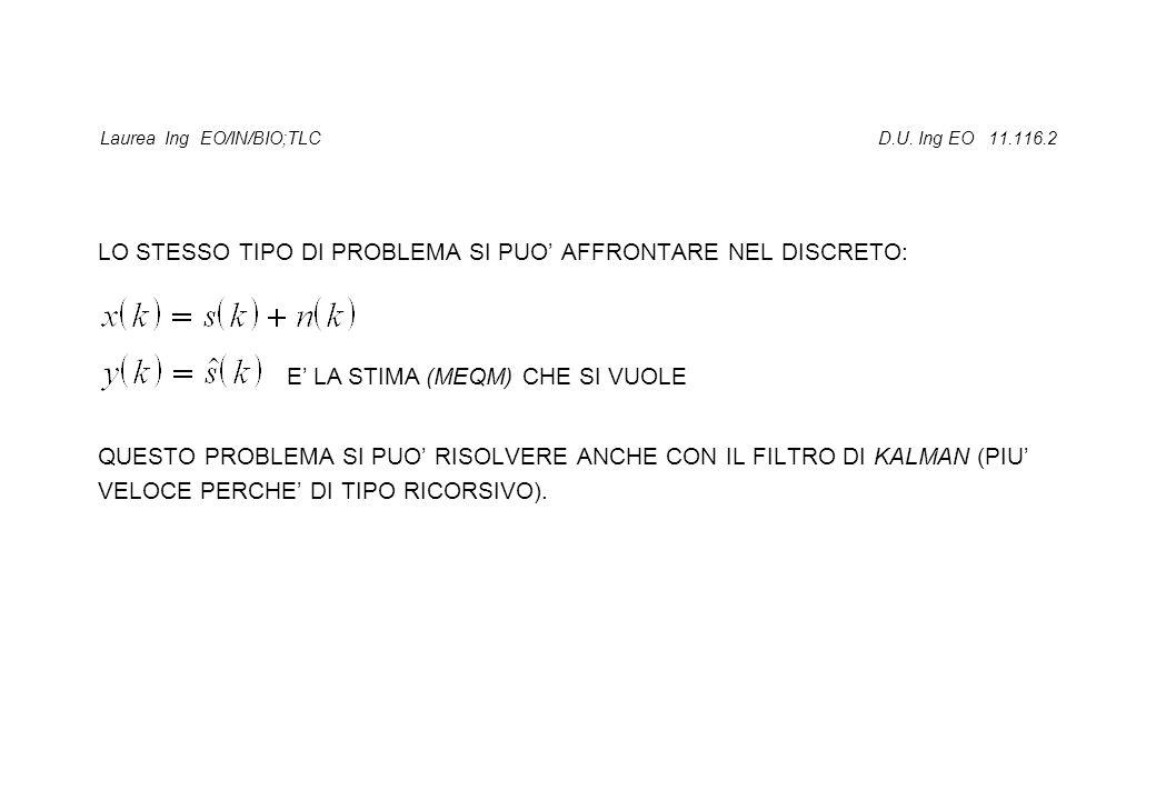 Laurea Ing EO/IN/BIO;TLC D.U. Ing EO 11.116.2