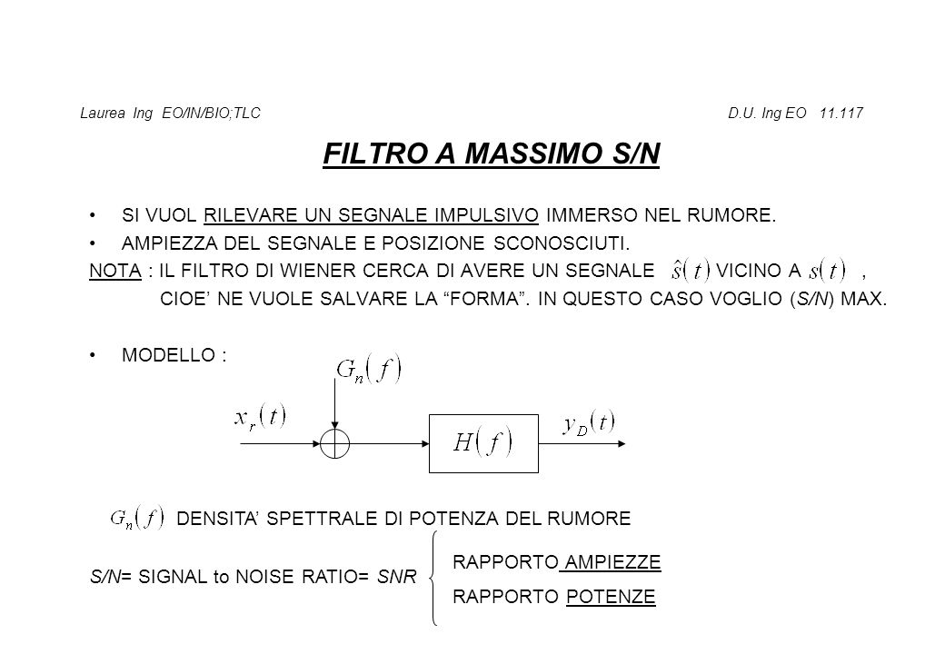 Laurea Ing EO/IN/BIO;TLC D.U. Ing EO 11.117