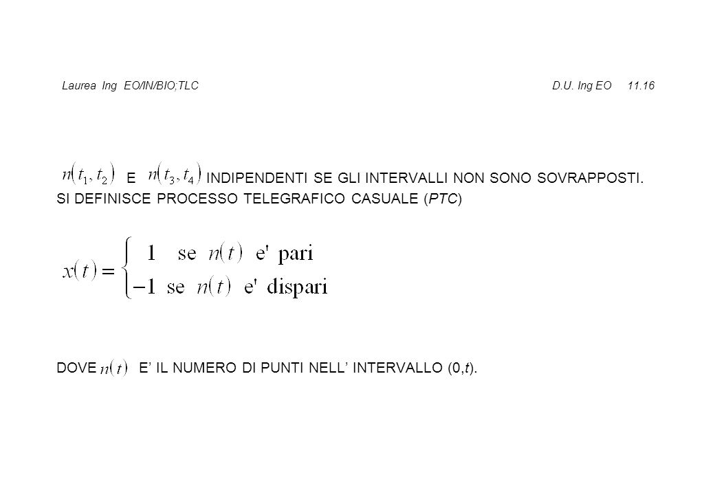Laurea Ing EO/IN/BIO;TLC D.U. Ing EO 11.16