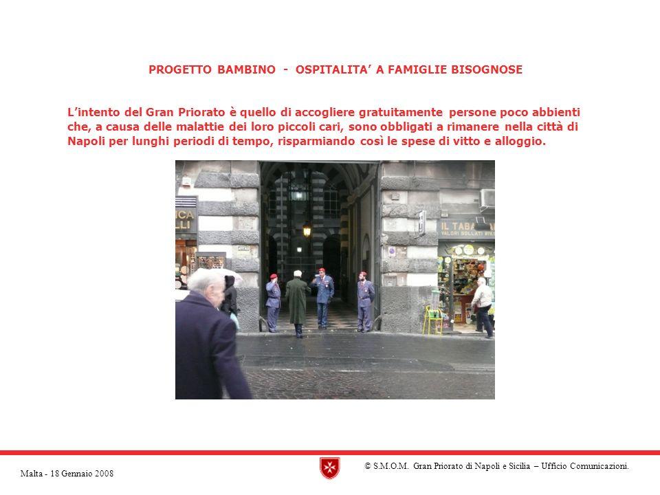 PROGETTO BAMBINO - OSPITALITA' A FAMIGLIE BISOGNOSE