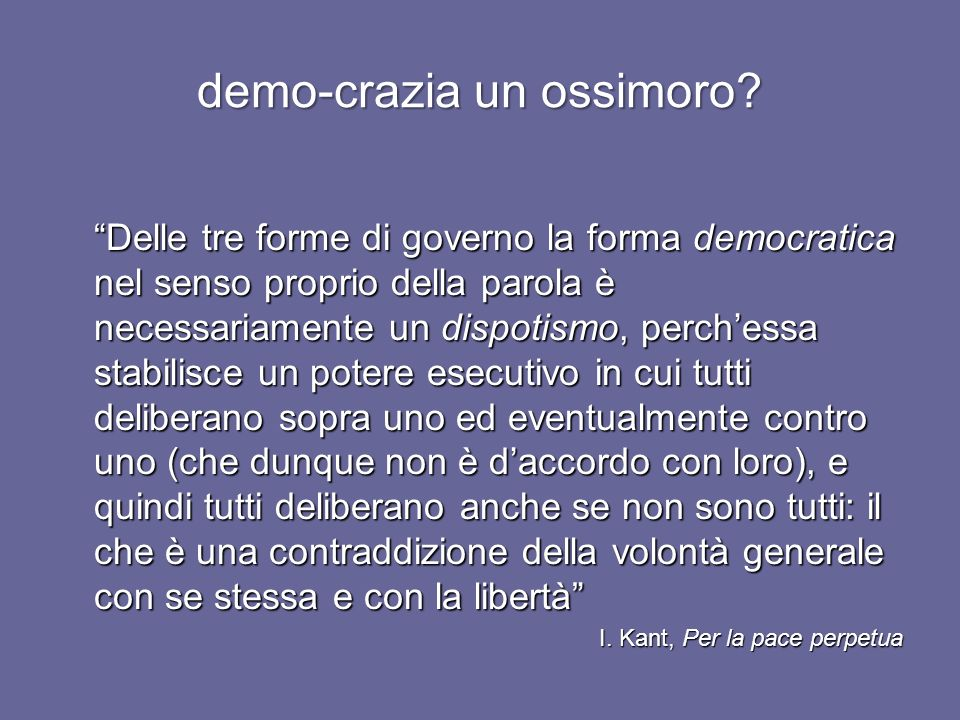 demo-crazia un ossimoro