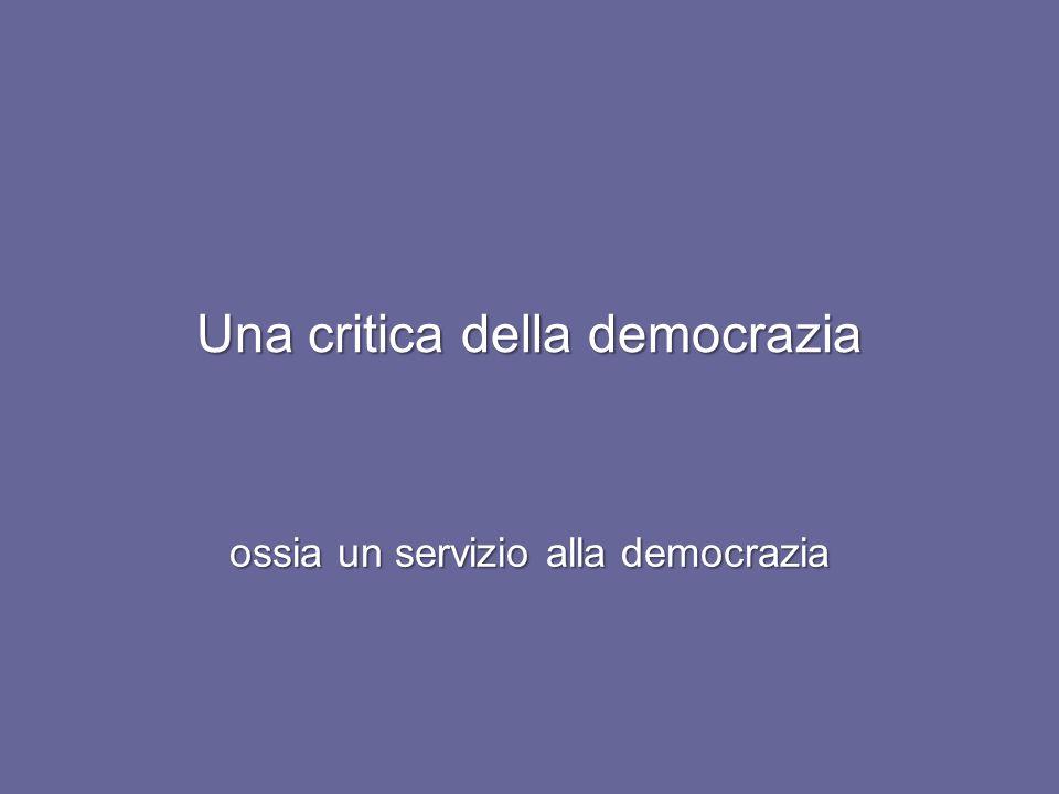 Una critica della democrazia