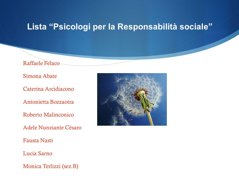 Lista Psicologi per la Responsabilità sociale