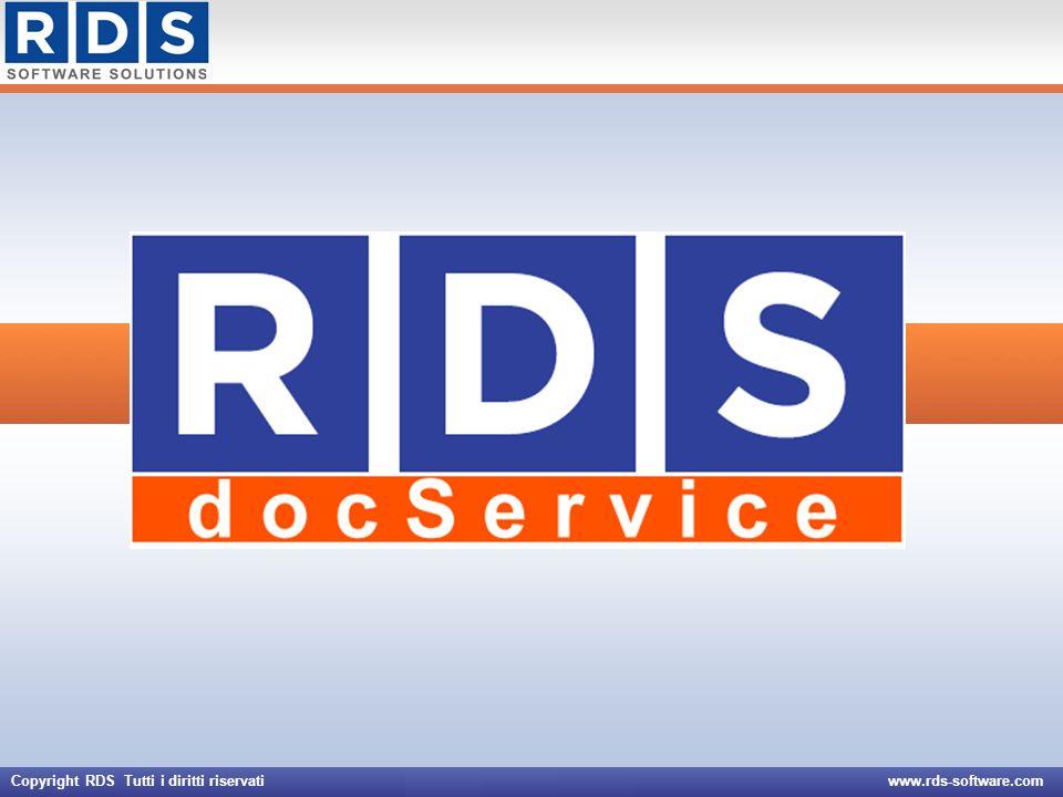 Copyright RDS Tutti i diritti riservati www.rds-software.com
