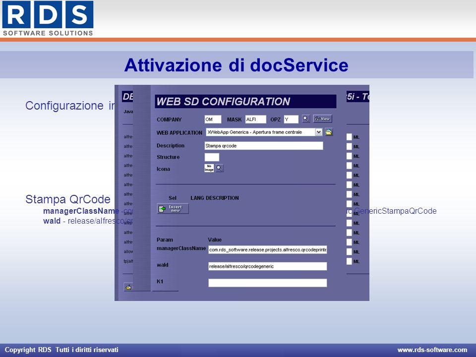 Attivazione di docService