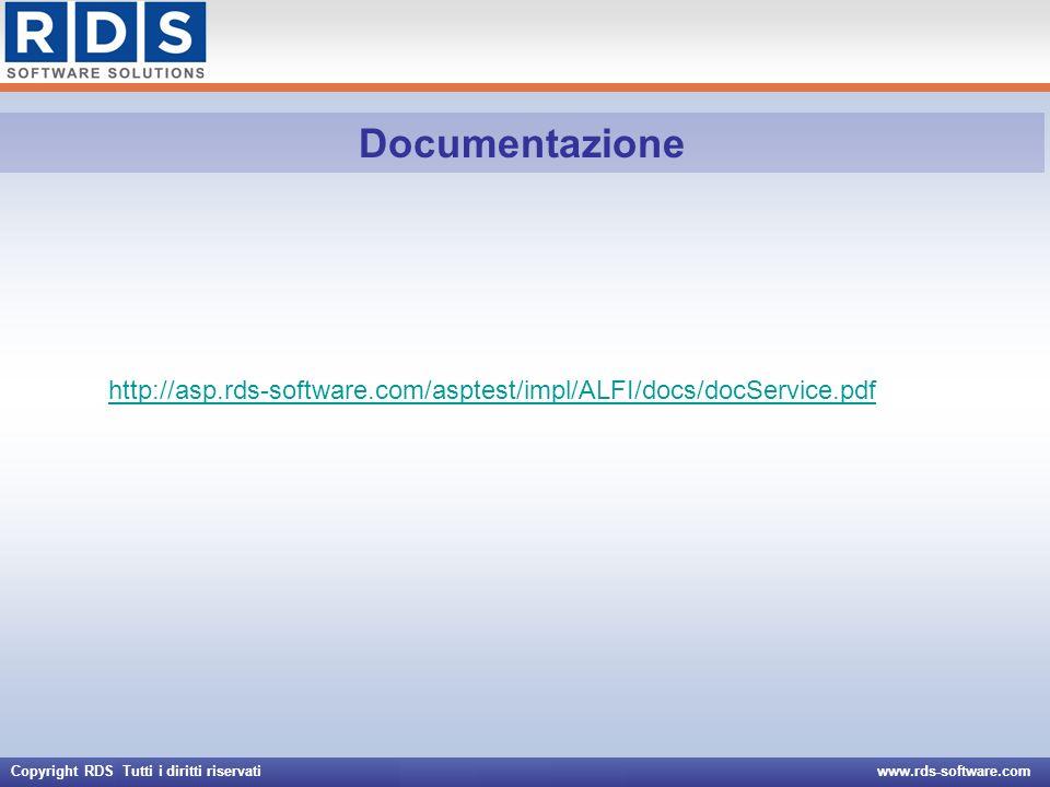 Documentazione http://asp.rds-software.com/asptest/impl/ALFI/docs/docService.pdf 15