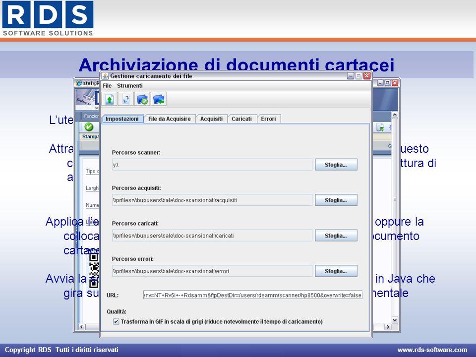 Archiviazione di documenti cartacei