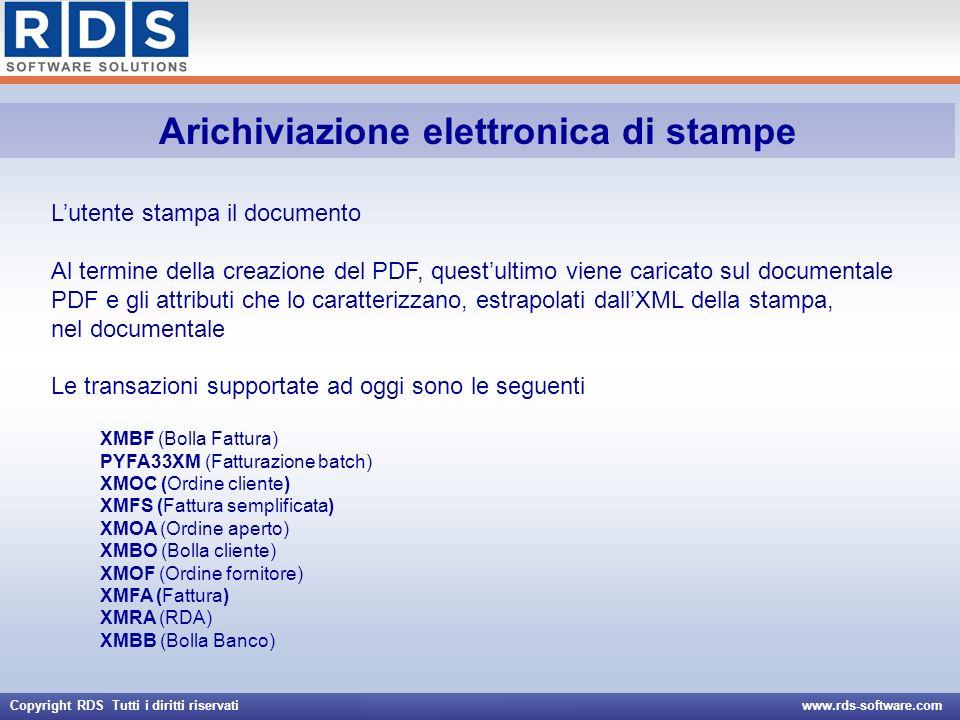 Arichiviazione elettronica di stampe