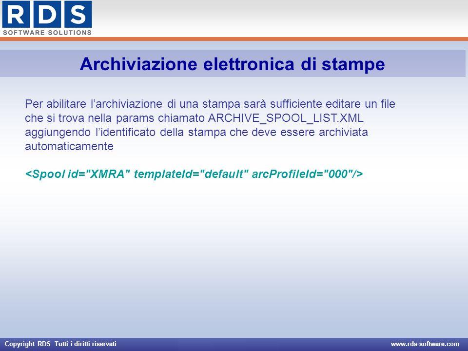 Archiviazione elettronica di stampe